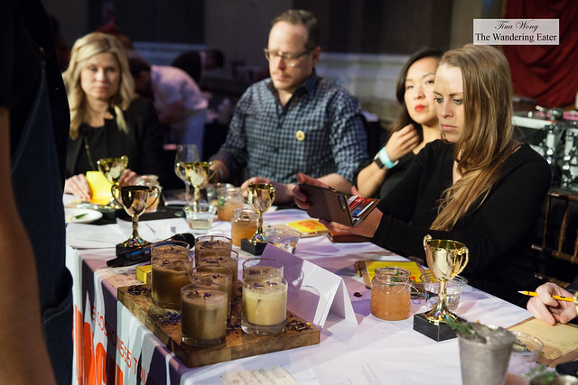 Judging one of the punch drinks for the Punch Kings competition