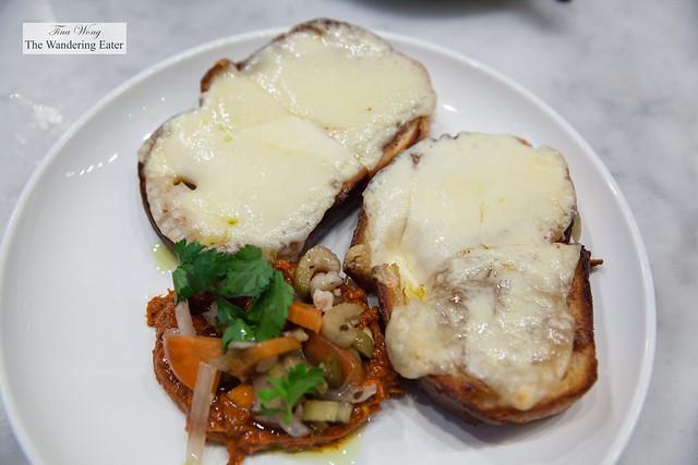 Housemade 'Nduja, Giardiniera & Tetilla Cheese Crostini