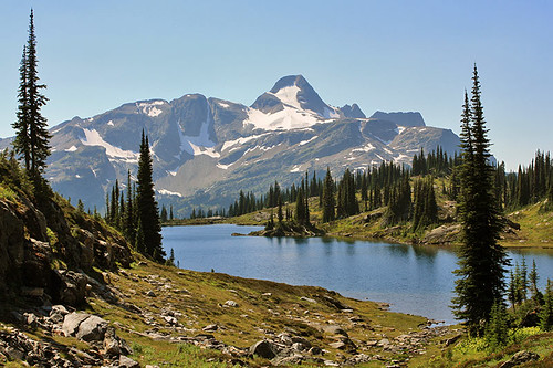Fawn Lake with Mount Fosthall in the background, Monashee Provincial Park, British Columbia