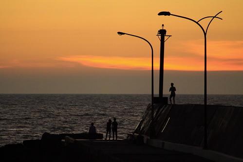 blue sunset sea canon landscape flavor post time outdoor dusk magic lamppost 50d 55250 tasete