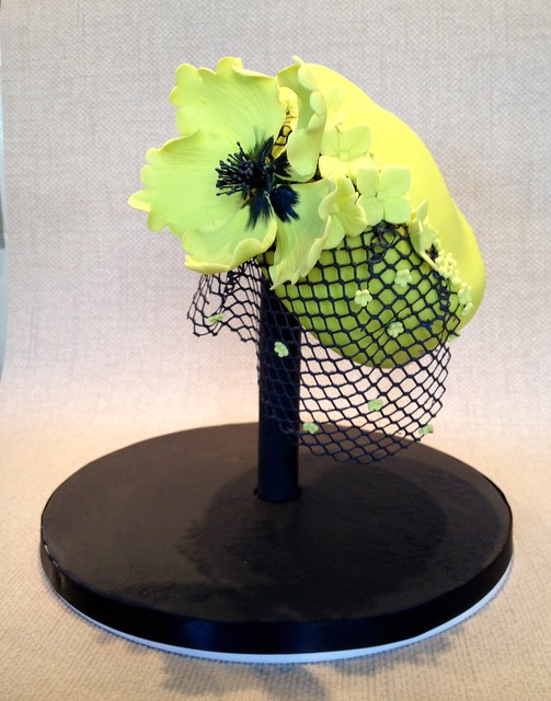 Hat on a hatstand cake