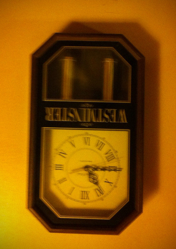 clock upside down