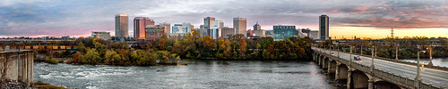 autumn panorama fall skyline river 50mm james virginia high nikon downtown cityscape f14 pano wide richmond va resolution rva fallline d810