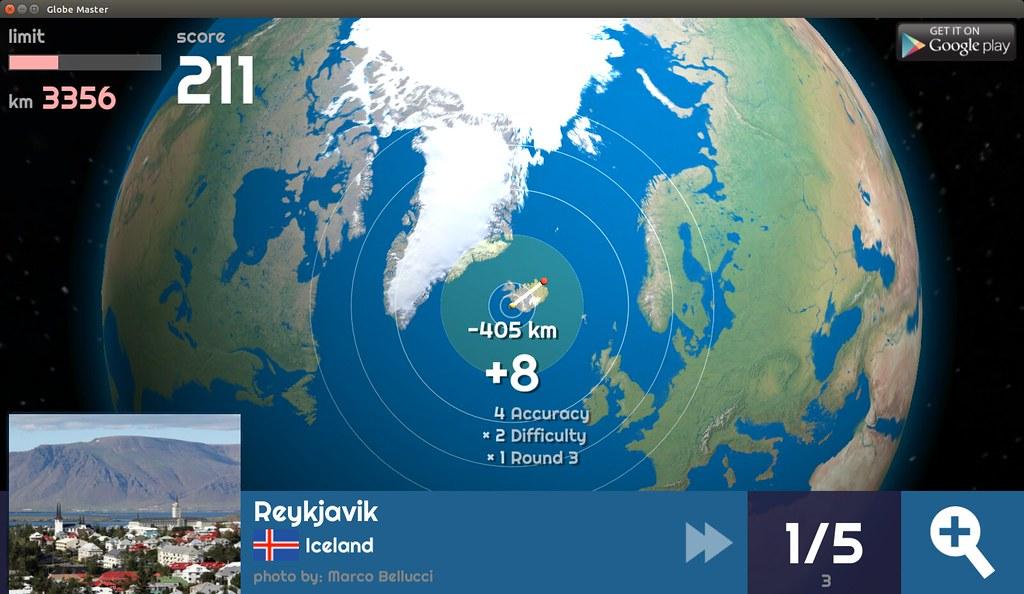 Globe Master 3D - Reykjavik
