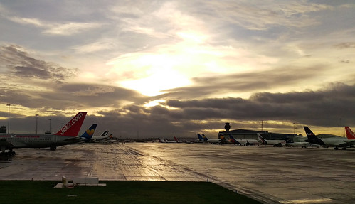 Manchester Airport after the rain   by pedrik