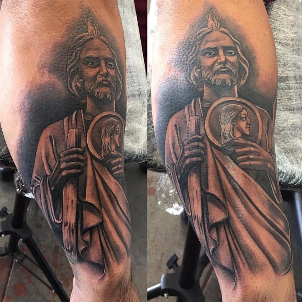 SAN JUDAS #saintjude #tattoo #saintjudetattoo #religious #…   Flickr