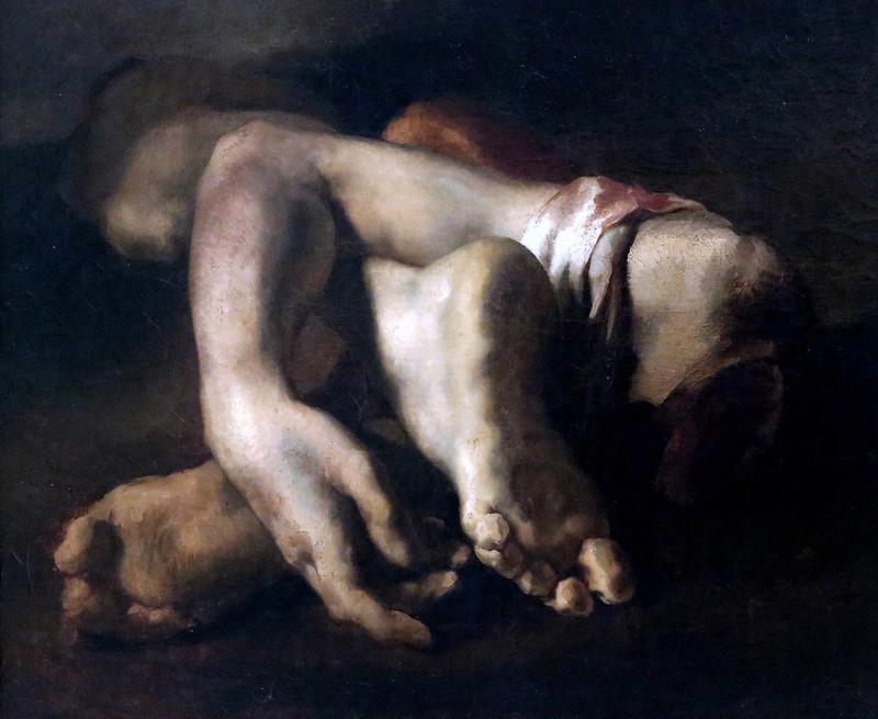 IMG_3634 Théodore Géricault. 1791-1824.  Etude de pieds et de main. Study of feet and hands. vers 1818.   Montpellier Musée Fabre.  Ecole romantique.  Romantic school.