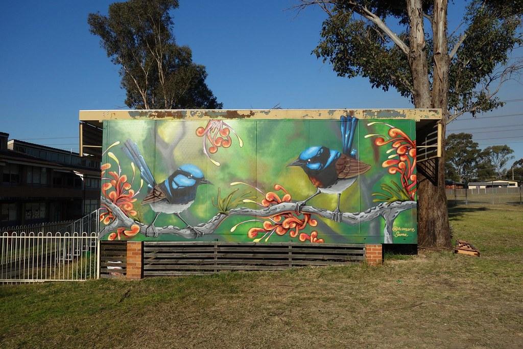 Commissioned mural - Noumea Public School, Shalvey NSW
