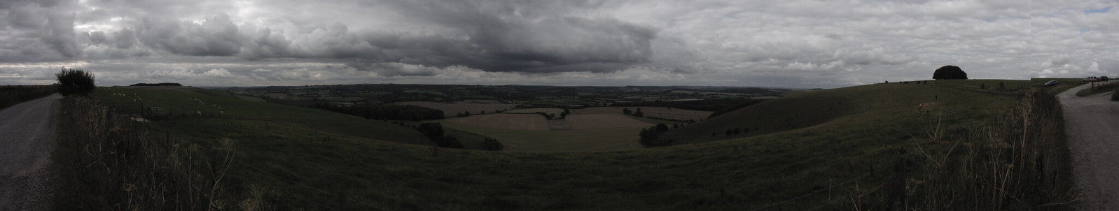 180 deg Panoramic View from the Salisbury Ox Drove, Win Green Hill SWC Walk 251 Tisbury Circular via Ludwell and Berwick St. John