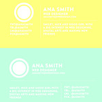 ana smith (practice) business card