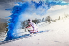 Marcel Hirscher performs during the project 'Marcel Hirscher Colours' at Reiteralm near Schladming, Austria on March 24th, 2015 // Philip Platzer/Red Bull Content Pool // P-20150402-00167 // Usage for editorial use only // Please go to www.redbullcontentpool.com for further information. //