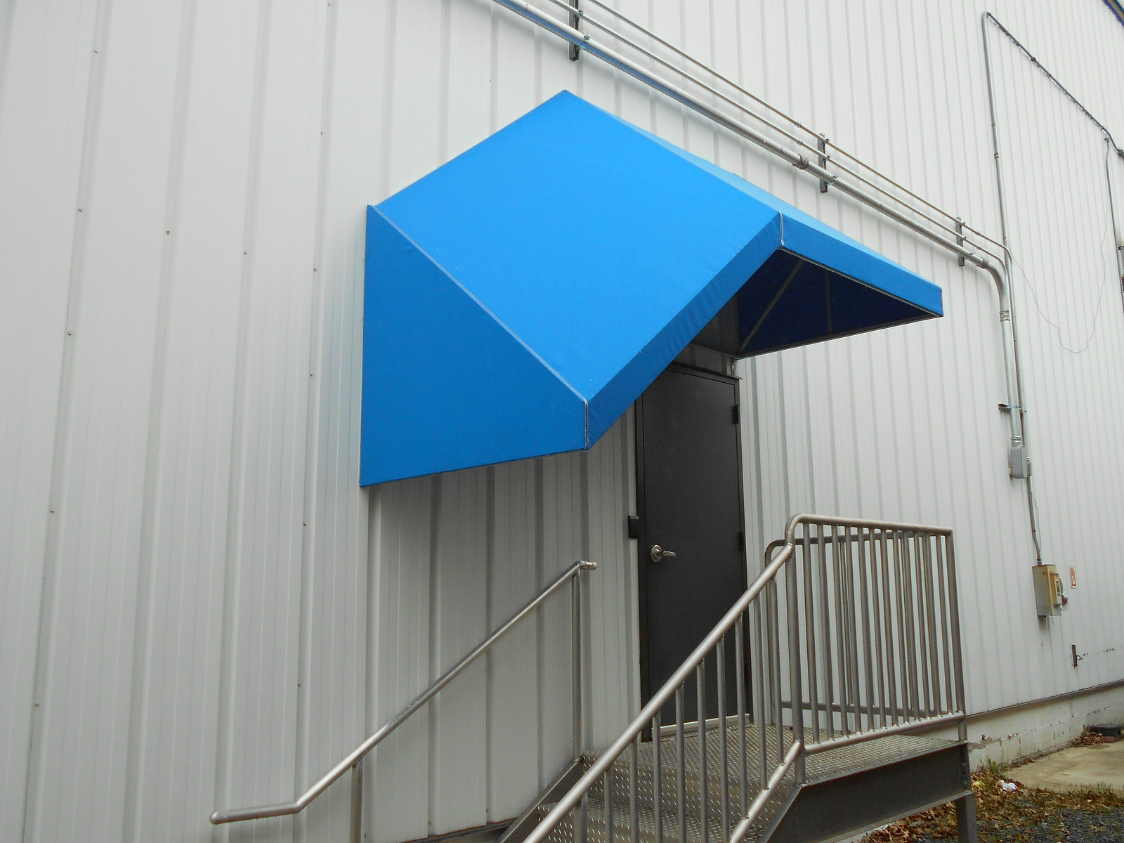 Protective Stairway Awning