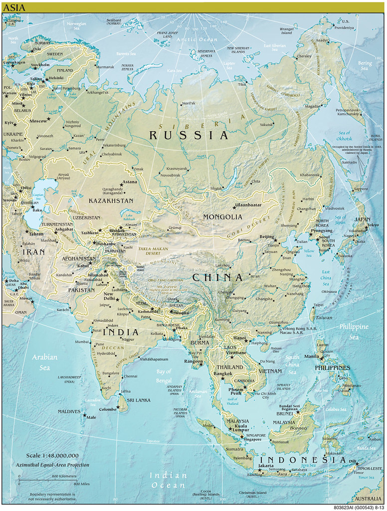 Map Of Asia 800.2013 Asia World Fact Book Map Central Intelligence Agency Flickr