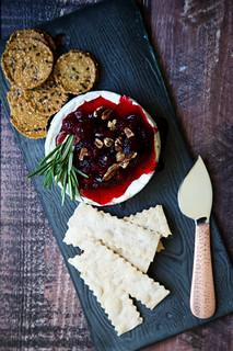 Cranberry Pomegranate Baked Brie | by tartelette
