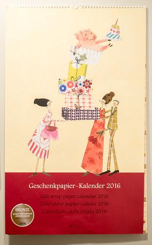 Geschenkpapier-Kalender 2016