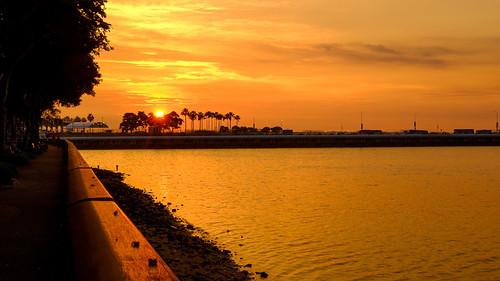sunset golden singapore hour malaysia sg johor goldenhour causeway