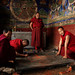Tibetan monks designig traditional mandala at Tiksey Gompa Ladakh by magbrinik