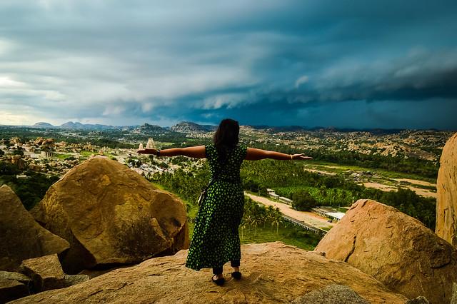 Girl at Hampi, Mathanga Hills