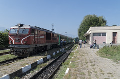 Train at the Septemvri narrow gauge railway station, 16.09.2015.