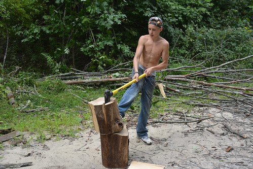 Youth in Whitesville, WV Cut Firewood with RAMPS Youth Engagement Project | by engagejoe