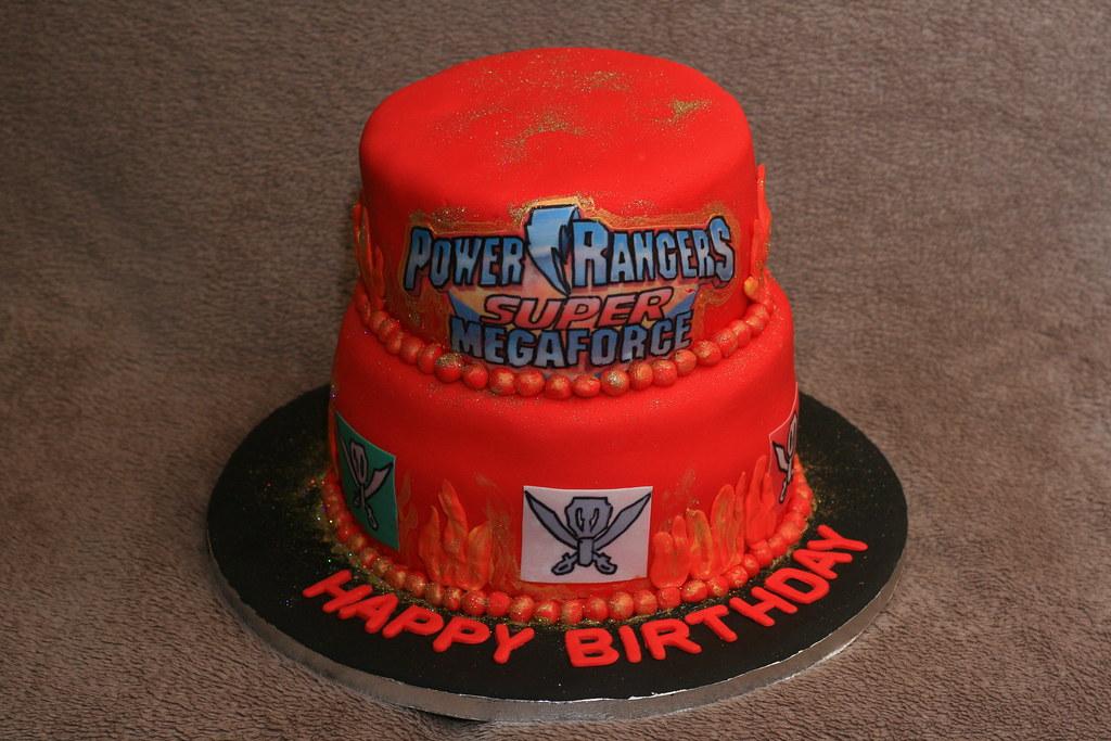 Strange Power Rangers Super Megaforce Cake Eldriva Flickr Funny Birthday Cards Online Inifodamsfinfo