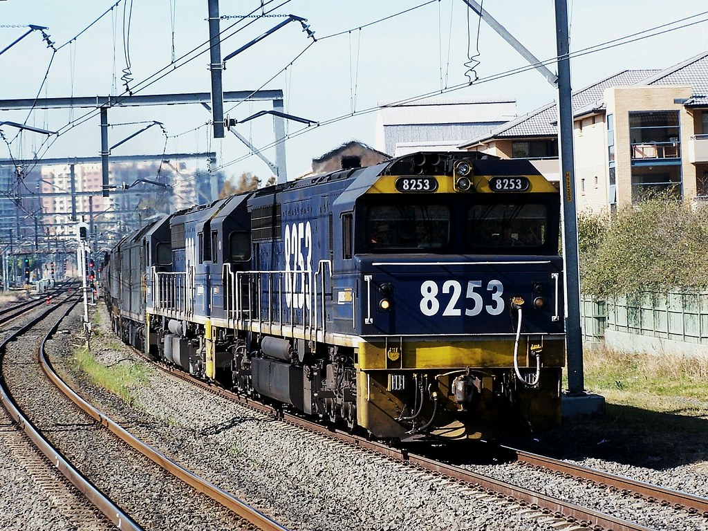 Pacific National - Empty Coal Service, North Strathfield by Shawn Stutsel