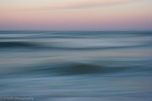 ocean park blue sunset sky abstract water landscape coast seaside surf waves state outdoor pastel shoreline maryland atlantic shore assateague