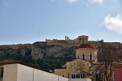 Acrópolis desde el Ágora romana