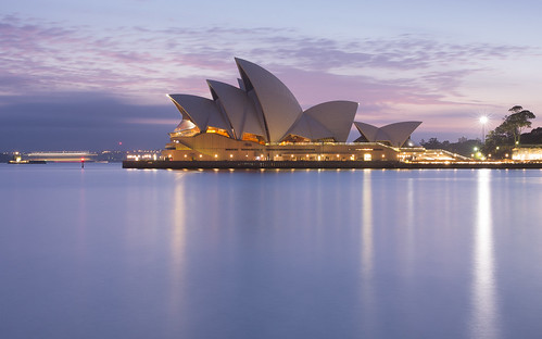 blue reflection water sunrise dawn twilight sydney australia bluehour sydneyoperahouse