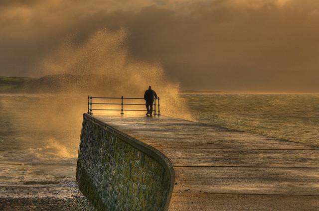 missed by an inch.Criccieth beach.