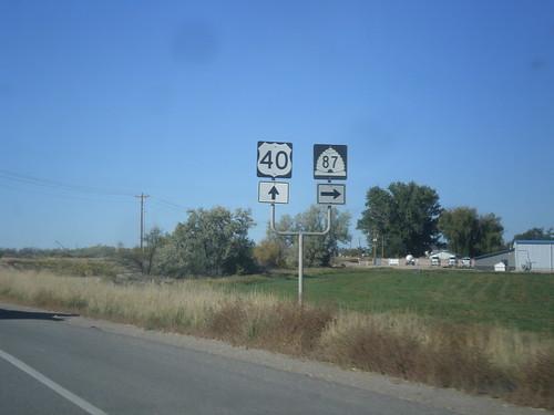 shield intersection sign utah roosevelt us40 ut87