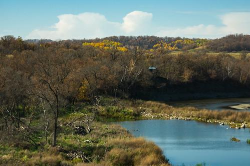 autumn landscape manitoba river minto canada ca