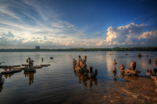 summer ontario clouds evening hdr ottawariver inukshuks cans2s