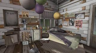 Serenity Style- Summer Camp Bedroom   by Hidden Gems in Second Life (Interior Designer)