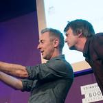 Alan Cumming and Ian Rankin selfie | Alan Cumming gets a selfie with his Chair Ian Rankin at the Book Festival © Alan McCredie