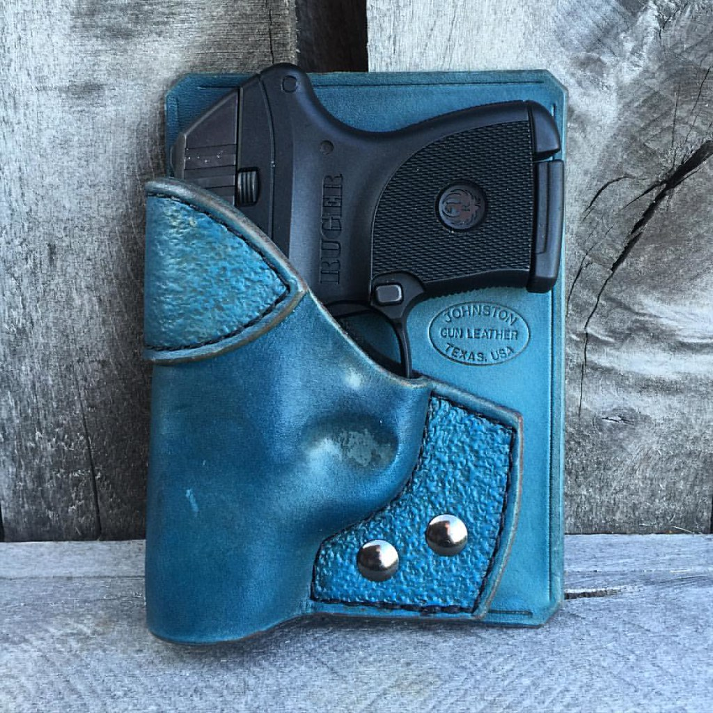 Combo Pocket Holster for #Ruger #LCP in Turquoise Cowhide