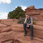 Emily at Grand View Point, Canyonlands