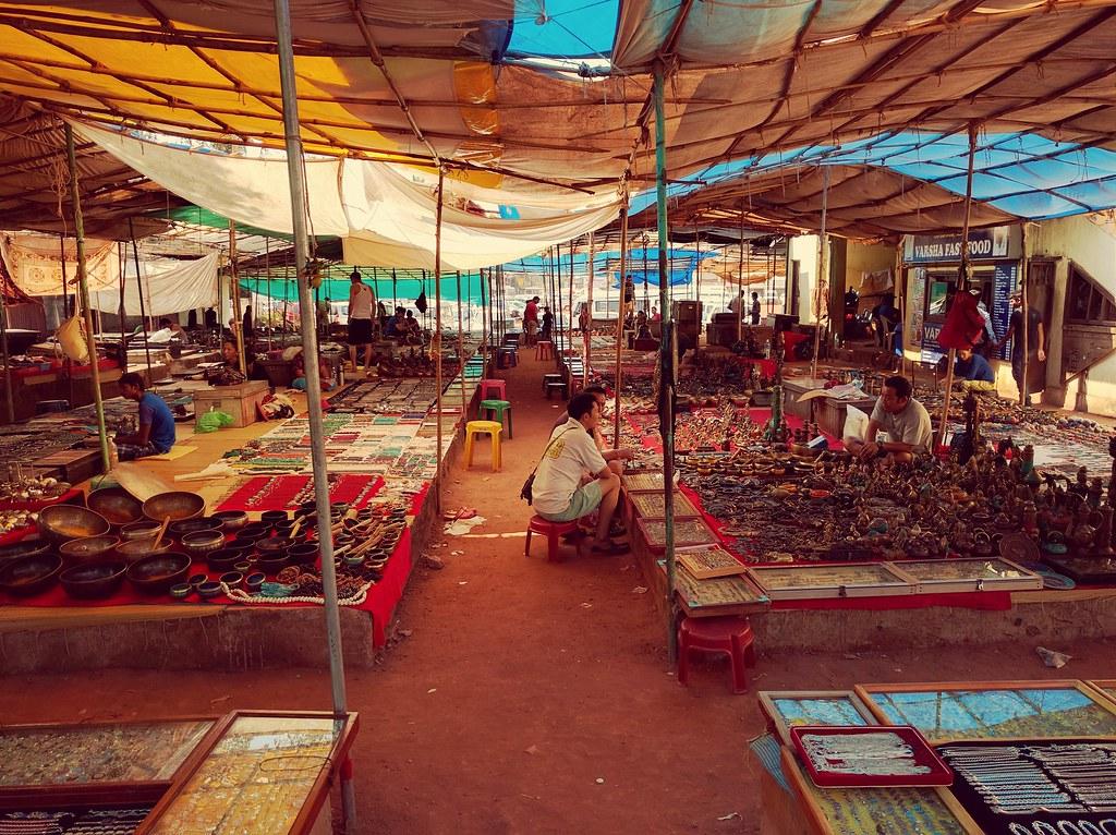 Flea Market in Goa, India