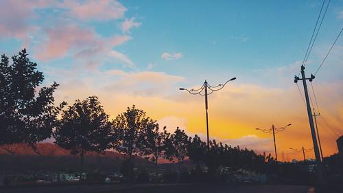 street city sunset sky cloud clouds photography bluesky orangesky kurdistan kurd phonography duhok tahakbamarni tahakamalabdullah tahabamarni tahaabdullah
