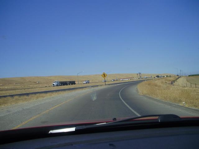 Northbound on Interstate 5, California
