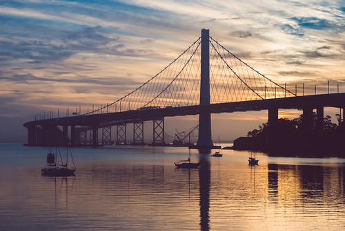 sanfrancisco california skyline sunrise treasureisland baybridge bayarea clippercove treasureislandmarina sanfrancisco–oaklandbaybridge pixelmama