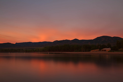 longexposure lake seascape mountains water clouds sunrise reflections landscape dawn colorado lakes hills le cape daybreak lakechatfield