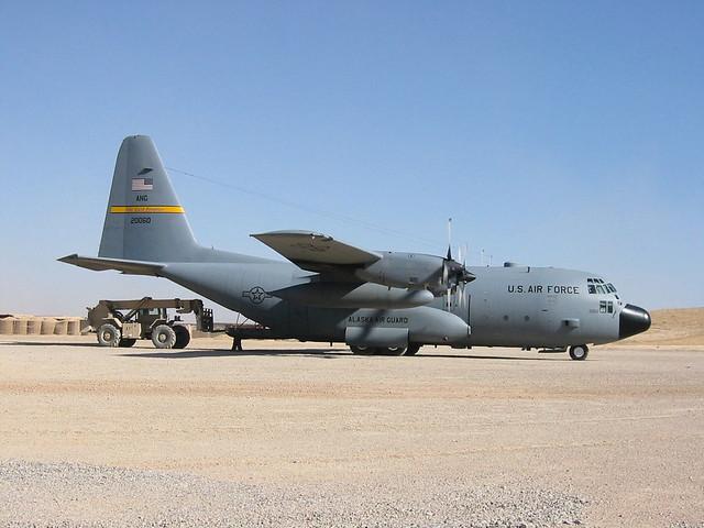 C-130H 82-0060 144AS/176WING Alaska-ANG USAF. Tarin Kowt, Afghanistan. November 2007.
