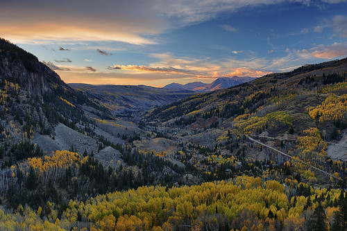 fall autumn sunset colorado ames foliage folige valley mountains san juan