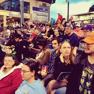 The #USSZebulonPike at the #SkySox game. Daniel, Rachel, Liz, Jay, Linda, and Lena. And with the #USSTiburon, Doug, Chris, Christina, and Bran. / on Instagram https://instagram.com/p/7RWHYBMmiS/