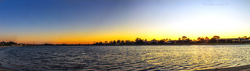 sunset panorama water australia adelaide southaustralia westlakes orangeandblur