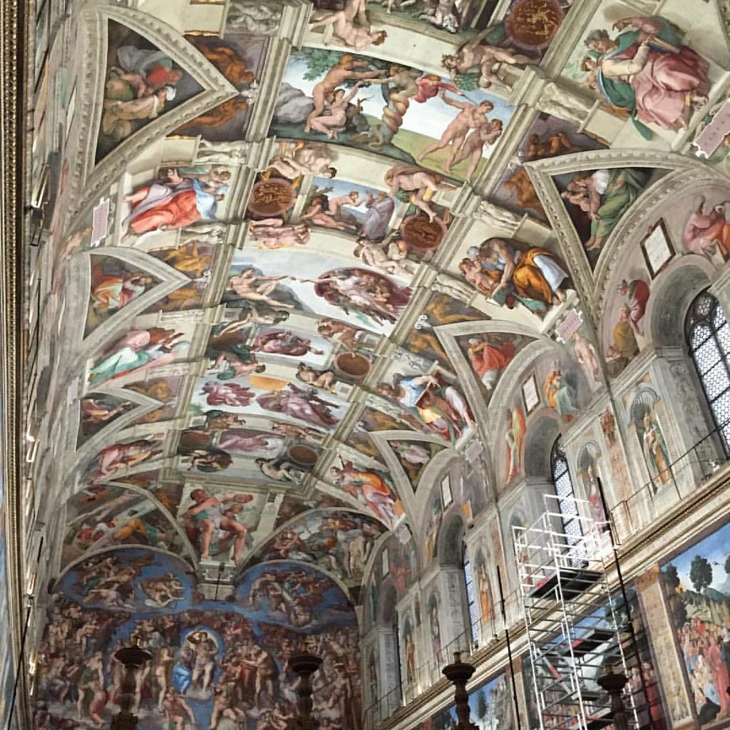 Michelangelo Sistine Chapel Ceiling In Vatican City Wow