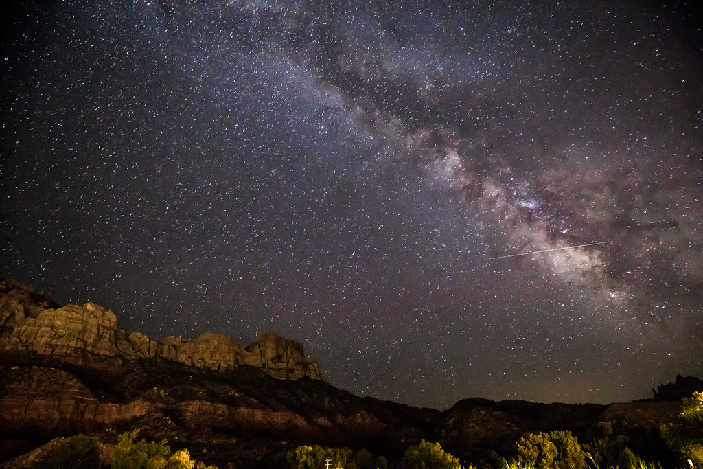 Milky way at Zion National Park
