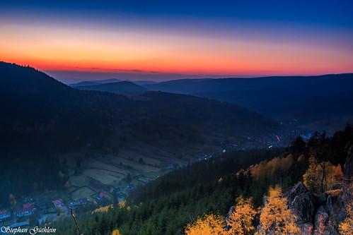 sunset sun germany landscape deutschland thüringen sonnenuntergang thuringia sonne landschaften thüringerwald oberschönau thurigianforest