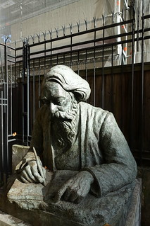 Statue of Rabindranath Tagore @ Jardin Juan Miro @ Paris   by *_*